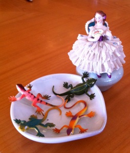 Lady and Lizards